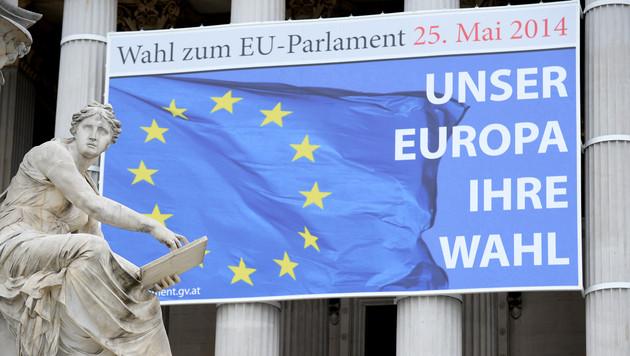 """EU-Wahl: Neun Listen und """"Leer"""" auf Stimmzettel (Bild: APA/ROLAND SCHLAGER)"""