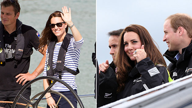 Kate besiegt Prinz William beim Segeln (Bild: AP)