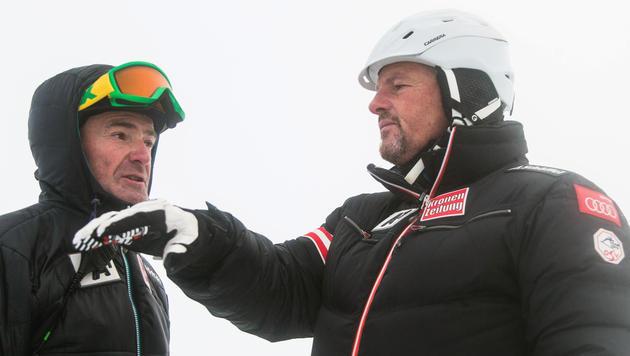 Andreas Puelacher mit Mathias Berthold (Bild: APA/EXPA/JOHANN GRODER)