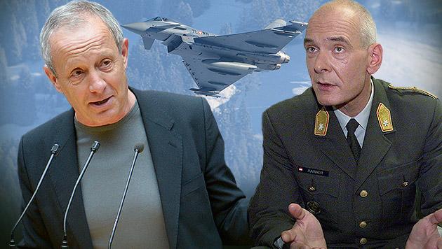 """Pilz: """"Sparen? Klug soll Eurofighter stilllegen!"""" (Bild: APA/ROBERT JAEGER, APA/ROLAND SCHLAGER, Martin A. Jöchl)"""
