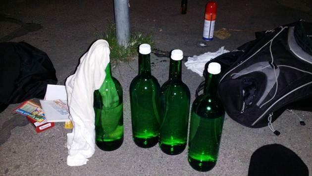 Brandbomben-Anschlag von Wiener Polizei vereitelt (Bild: BPD Wien)