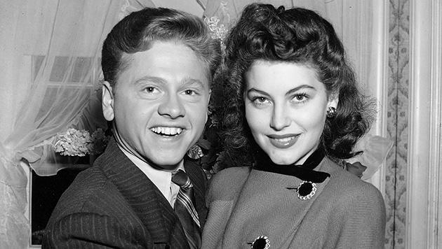 Mickey Rooney und Ava Gardner. Das Paar war ab 1942 ein Jahr lang verheiratet. (Bild: AP)