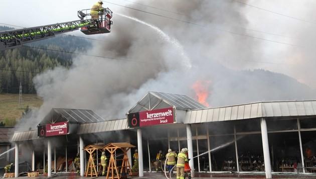 Sbg: Halogenlampe entfachte Feuer in Kerzenfabrik (Bild: Nikolaus Faistauer)