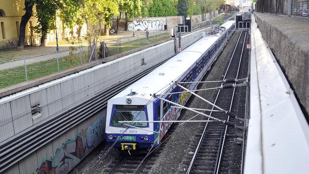 Schnellbahn bei Wien-Mitte evakuiert (Bild: APA/HANS PUNZ)