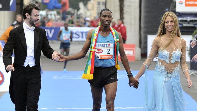 600.000 feierten Marathon der Rekorde in Wien (Bild: APA/HANS PUNZ)