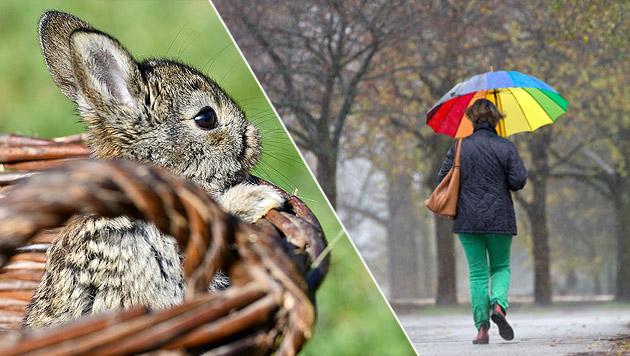 Aprilwetter in der Osterwoche, ab Freitag wärmer (Bild: APA/dpa/Patrick Pleu, Christian Charisius)