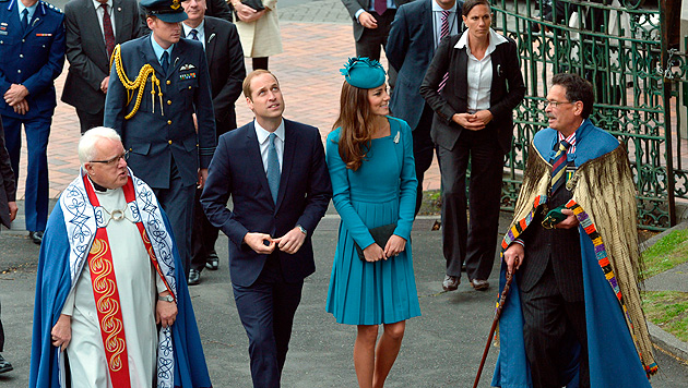 William und Kate in Neuseeland (Bild: AP)