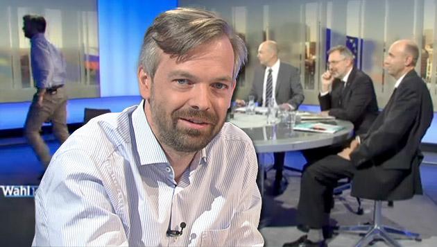 """EU-Politiker Ehrenhauser verlässt """"Pressestunde"""" (Bild: ORF, krone.at-Grafik)"""