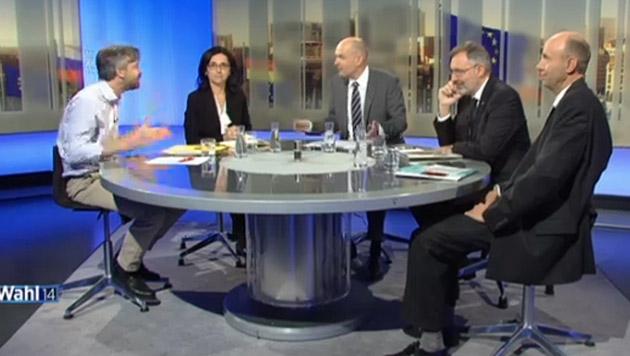"""EU-Politiker Ehrenhauser verlässt """"Pressestunde"""" (Bild: ORF)"""