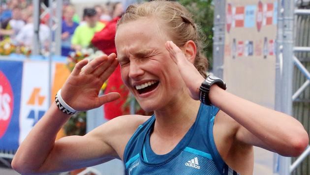 Die Deutsche Anna Hahner siegte bei den Damen. (Bild: AP)