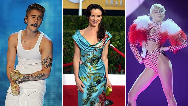 """Juliette Lewis: """"Miley und Justin wie Marionetten"""" (Bild: Evan Agostini/Invision/AP, APA/EPA/PAUL BUCK, ALI HAIDER)"""