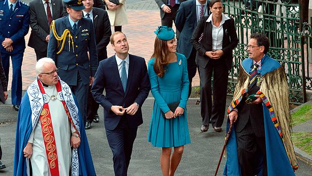 William und Kate in Neuseeland (Bild: AP)
