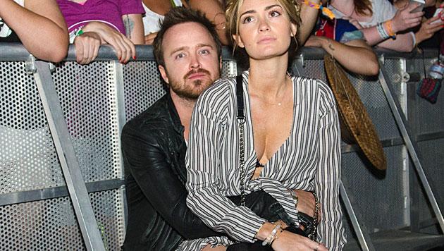 """""""Breaking Bad""""-Star Aaron Paul brachte seine Frau Lauren Parsekian zum Konzert von Lana Del Rey mit. (Bild: Scott Roth/Invision/AP)"""