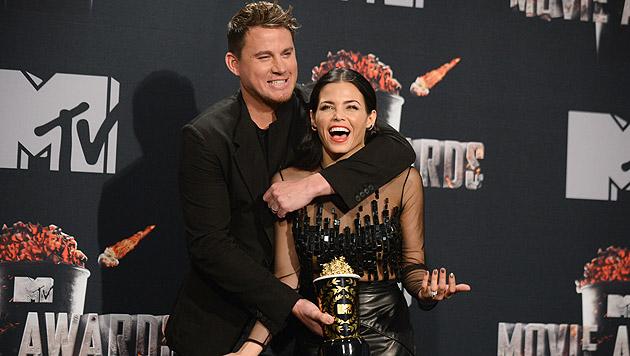 Channing Tatum mit Gattin Dewan (Bild: Jordan Strauss/Invision/AP)