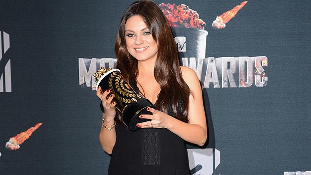 Mila Kunis: Noch kein Babybauch in Sicht. (Bild: Jordan Strauss/Invision/AP)