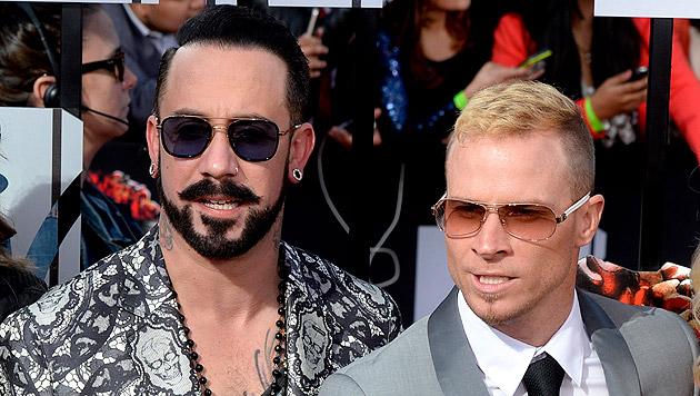 AJ McLean und Brian Littrell von den Backstreet Boys (Bild: APA/EPA/MICHAEL NELSON)
