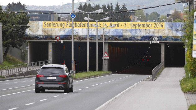 Unterführung bei Flughafen Salzburg wird saniert (Bild: MARKUS TSCHEPP)