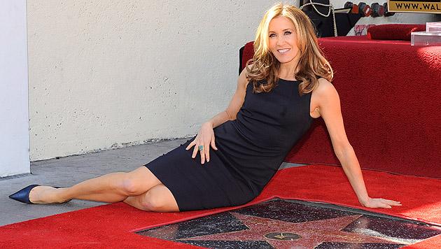 Felicity Huffman erhielt 2012 einen Stern auf dem Walk of Fame. (Bild: MICHAEL NELSON/EPA/picturedesk.com)