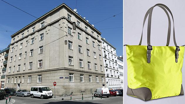 Vor diesem Haus wurde die 25-Jährige überfallen. Die Polizei sucht nach der Tasche des Opfers. (Bild: Gerhard Bartel, LPD Wien)