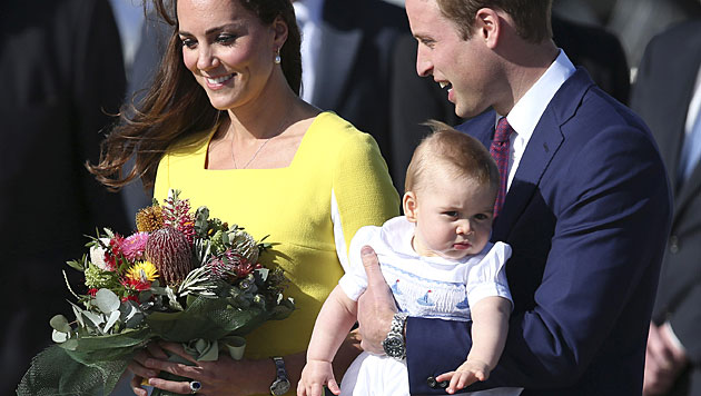Kate, Charlotte, Madeleine: Unser erster Muttertag (Bild: AP)