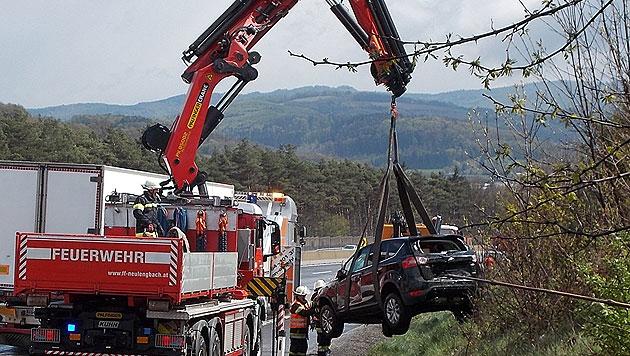 NÖ: 50 Fahrzeuge in Massenkarambolage verwickelt (Bild: APA/FF ST. PÖLTEN-STADT)