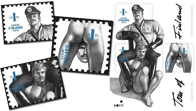 Schwulenporno-Motiv ziert Sondermarke in Finnland (Bild: Itella)
