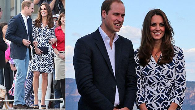 Dieses Kleid von Kate war schneller ausverkauft als warme Semmeln. (Bild: AP)