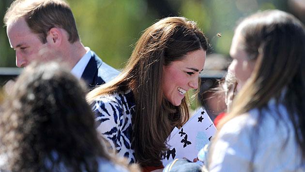 Kate versuchte sich als Pilotin in Kampfjet (Bild: AP)