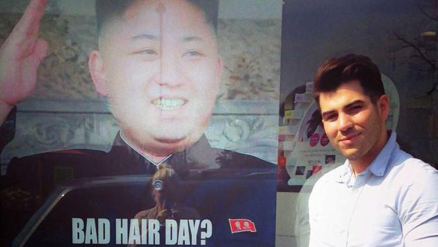 Londoner Friseur verärgert Nordkoreas Kim Jong Un (Bild: AP/M&M Hair Academy)