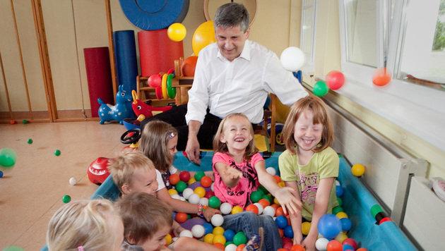 ÖVP macht 350 Mio. Euro für Kinderbetreuung locker (Bild: Jakob Glaser)