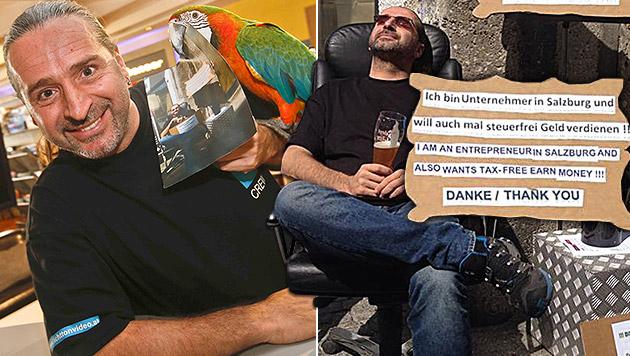 """Unternehmer """"verdiente"""" 62,90 Euro als Bettler (Bild: Markus Tschepp, krone.at-Grafik)"""
