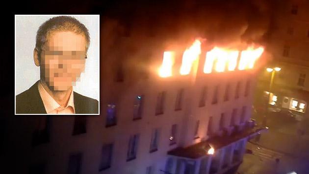 Brandstiftung in Wien: U-Haft über Mieter verhängt (Bild: YouTube.com, APA/POLIZEI)