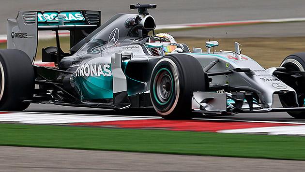 Mercedes auch in Shanghai auf Kurs (Bild: AP)