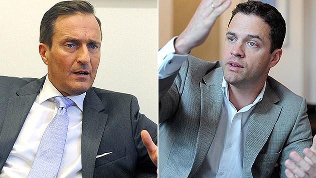 ÖVP-Landesparteichef Manfred Juraczka (links) und FPÖ-Klubobmann Johann Gudenus (rechts) (Bild: APA/ROBERT JAEGER, APA/HERBERT PFARRHOFER)