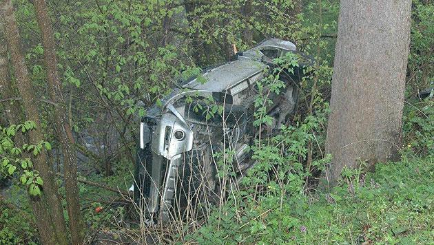 Ktn: Auto stürzt über Böschung - 37-Jährige tot (Bild: Polizei)