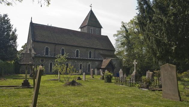 In dieser Kirche heirateten Peaches Geldof und Tom Cohen im Jahr 2012. (Bild: APA/EPA/WILL OLIVER)
