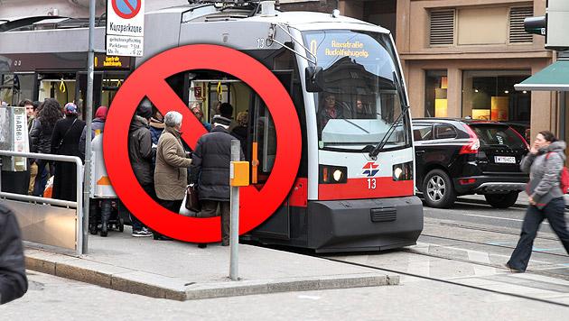 Wiener Linien richten für Mittwoch Notbetrieb ein (Bild: Andi Schiel, krone.at-Grafik)