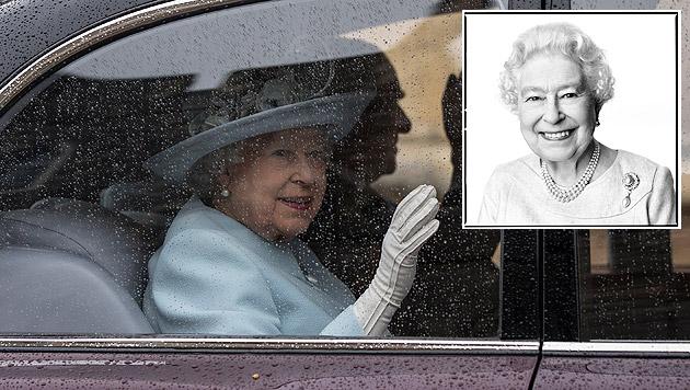 Anlässlich ihres Geburtstages wurde ein neues Porträt der Königin (kleines Bild) veröffentlicht. (Bild: AP, APA/EPA/DAVID BAILEY/PA WIRE)