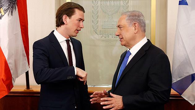 Mit Israels Premier Netanyahu (Bild: APA/Dragan Tatic)