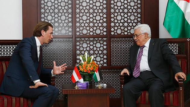 Kurz mit Palästinenserpräsident Abbas (Bild: APA/Dragan Tatic)