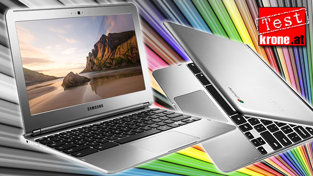 Nutzlos ohne Internet: Samsungs Chromebook im Test (Bild: Samsung, thinkstockphotos.de, krone.at-Grafik)