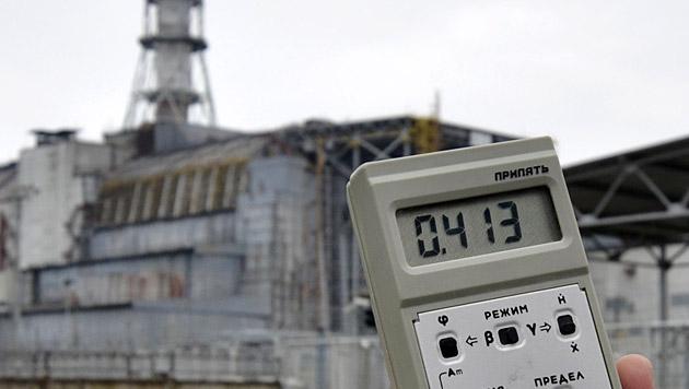 Messung der Strahlung in Tschernobyl (Bild: APA/Helmut Fohringer)