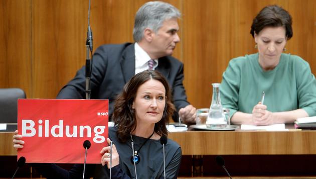 Heftige Schul-Debatte im Nationalrat (Bild: APA/ROLAND SCHLAGER)