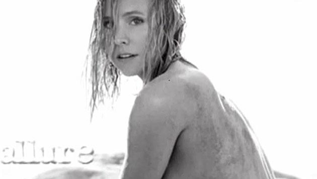 Kristen Bell ließ am Strand die Hüllen fallen. (Bild: Zoom.in)