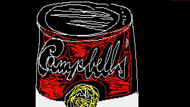 Andy Warhols Amiga-Bild 'Campell's' (Bild: The Andy Warhol Museum)