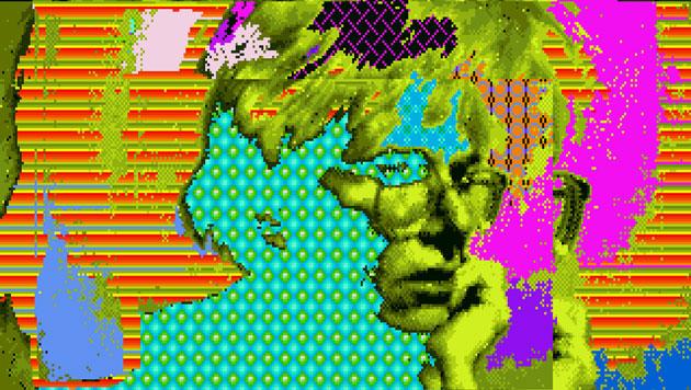 "Andy Warhols Amiga-Bild ""Andy 2"" (Bild: The Andy Warhol Museum)"
