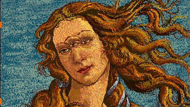 "Andy Warhols Amiga-Bild ""Venus"" (Bild: The Andy Warhol Museum)"