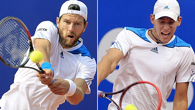 Machbare US-Open-Lose für Melzer und Thiem (Bild: APA/EPA/ANDREU DALMAU)