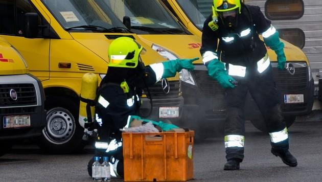 NÖ: Zwei Arbeiter durch giftige Dämpfe verletzt (Bild: APA/PRESSESTELLE/BFK MÖDLING)