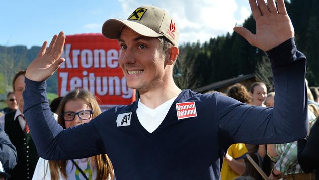 Annaberg feierte seinen Superstar Marcel Hirscher (Bild: APA/BARBARA GINDL)
